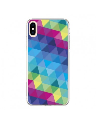 Coque iPhone XS Max Azteque Gheo Bleu - Javier Martinez