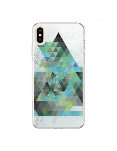 Coque iPhone XS Max Azteque Gheo Vert - Javier Martinez