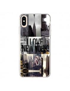 Coque iPhone XS Max I love New Yorck City noir - Javier Martinez