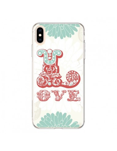 Coque iPhone XS Max Love Fleurs Flourish - Javier Martinez