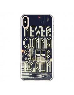 Coque iPhone XS Max Never Gonna Sleep New York City - Javier Martinez