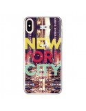 Coque iPhone XS Max New York City Buildings - Javier Martinez