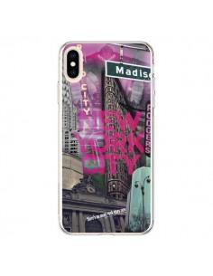 Coque iPhone XS Max New York City Rose - Javier Martinez