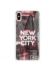 Coque iPhone XS Max New York City Rouge - Javier Martinez
