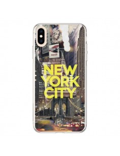 Coque iPhone XS Max New York City Jaune - Javier Martinez