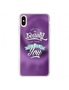 Coque iPhone XS Max Beauty Violet - Javier Martinez
