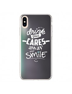 Coque iPhone XS Max Drink Gris - Javier Martinez