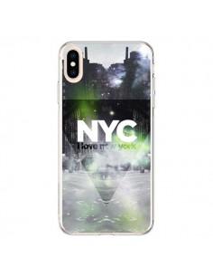 Coque iPhone XS Max I Love New York City Vert - Javier Martinez