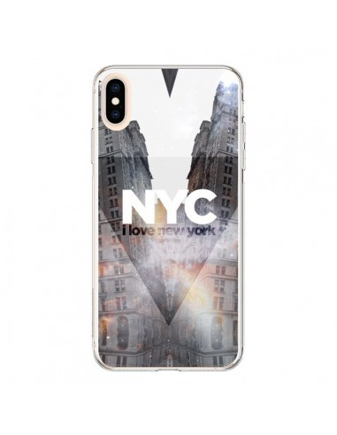 Coque iPhone XS Max I Love New York City Orange - Javier Martinez