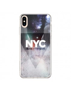 Coque iPhone XS Max I Love New York City Bleu - Javier Martinez