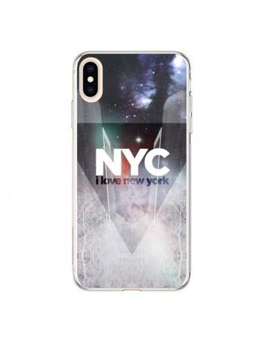 Coque iPhone XS Max I Love New York City Bleu - Javier Martinez