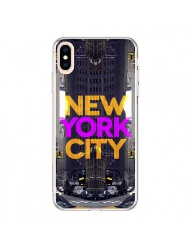 Coque iPhone XS Max New York City Orange Violet - Javier Martinez