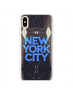 Coque iPhone XS Max New York City Bleu - Javier Martinez