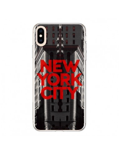 Coque iPhone XS Max New York City Rouge - Javier Martinez