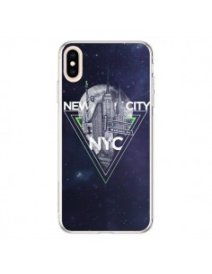 Coque iPhone XS Max New York City Triangle Vert - Javier Martinez