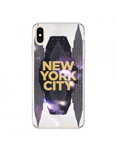 Coque iPhone XS Max New York City Orange - Javier Martinez
