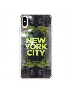 Coque iPhone XS Max New York City Vert - Javier Martinez