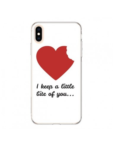 Coque iPhone XS Max I Keep a little bite of you Coeur Love Amour - Julien Martinez