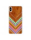 Coque iPhone XS Max Azteque Arbutus Pastel Bois Aztec Tribal - Jenny Mhairi