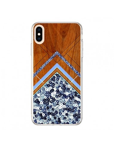 Coque iPhone XS Max Sequin Geometry Bois Azteque Aztec Tribal - Jenny Mhairi