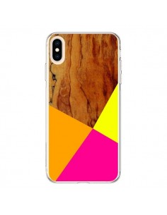 Coque iPhone XS Max Wooden Colour Block Bois Azteque Aztec Tribal - Jenny Mhairi