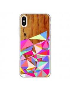 Coque iPhone XS Max Wooden Multi Geo Bois Azteque Aztec Tribal - Jenny Mhairi