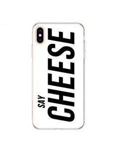 Coque iPhone XS Max Say Cheese Smile Blanc - Jonathan Perez