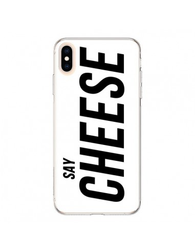 Coque iPhone XS Max Say Cheese Smile Blanc - Jonathan Perez
