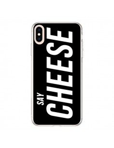 Coque iPhone XS Max Say Cheese Smile Noir - Jonathan Perez