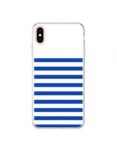 Coque iPhone XS Max Mariniere Bleu - Jonathan Perez