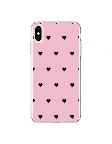 Coque iPhone XS Max Coeurs Roses - Jonathan Perez