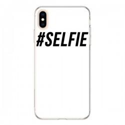 Coque iPhone XS Max Hashtag Selfie Noir Vertical - Jonathan Perez