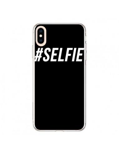 Coque iPhone XS Max Hashtag Selfie Blanc Vertical - Jonathan Perez