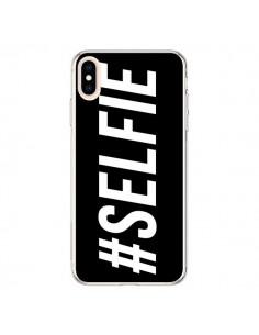 Coque iPhone XS Max Hashtag Selfie Noir Horizontal - Jonathan Perez