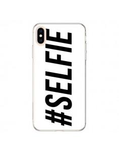Coque iPhone XS Max Hashtag Selfie Blanc Horizontal - Jonathan Perez