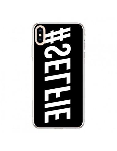 Coque iPhone XS Max Hashtag Selfie Blanc Inversé Horizontal - Jonathan Perez