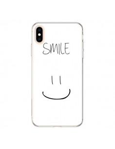 Coque iPhone XS Max Smile Souriez en Blanc - Jonathan Perez