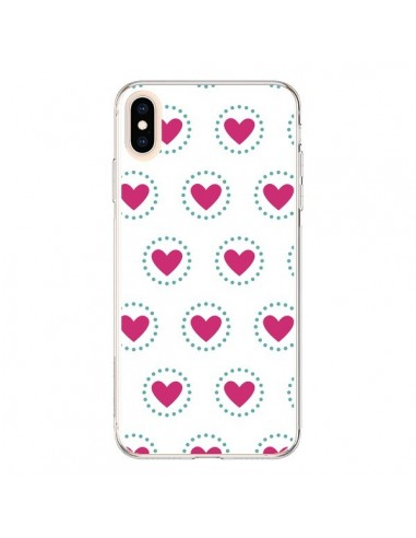Coque iPhone XS Max Coeur Cercle -...