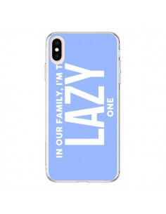 Coque iPhone XS Max In our family i'm the Lazy one - Jonathan Perez