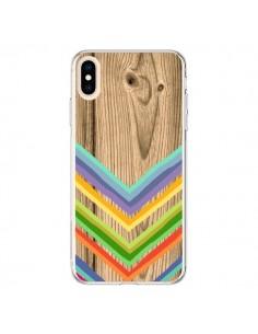 Coque iPhone XS Max Tribal Azteque Bois Wood - Jonathan Perez