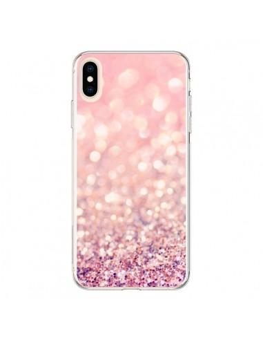 Coque iPhone XS Max Paillettes Blush - Lisa Argyropoulos