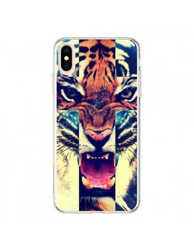 Coque iPhone XS Max Tigre Swag Croix Roar Tiger - Laetitia