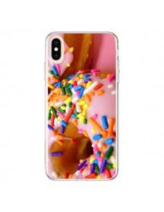 Coque iPhone XS Max Donuts Rose Candy Bonbon - Laetitia