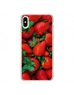 Coque iPhone XS Max Fraise Strawberry Fruit - Laetitia