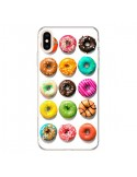 Coque iPhone XS Max Donuts Multicolore Chocolat Vanille - Laetitia