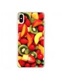 Coque iPhone XS Max Fruit Kiwi Fraise - Laetitia