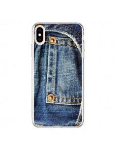 Coque iPhone XS Max Jean Bleu Vintage - Laetitia