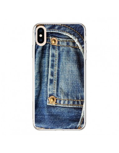 Coque iPhone XS Max Jean Bleu Vintage...