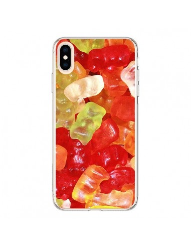 Coque iPhone XS Max Bonbon Ourson Multicolore Candy - Laetitia