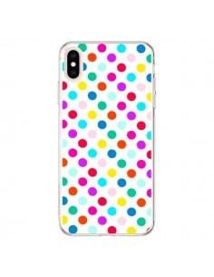 Coque iPhone XS Max Pois Multicolores - Laetitia